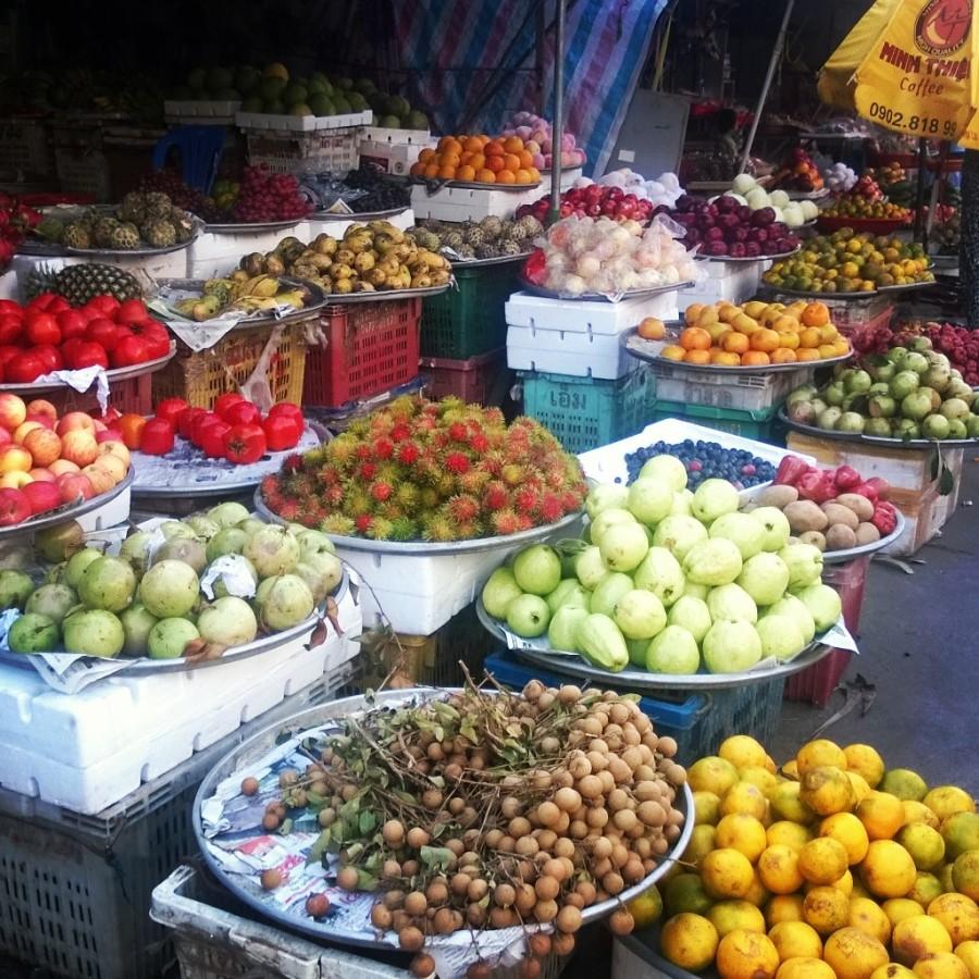 På marknad i Vietnam