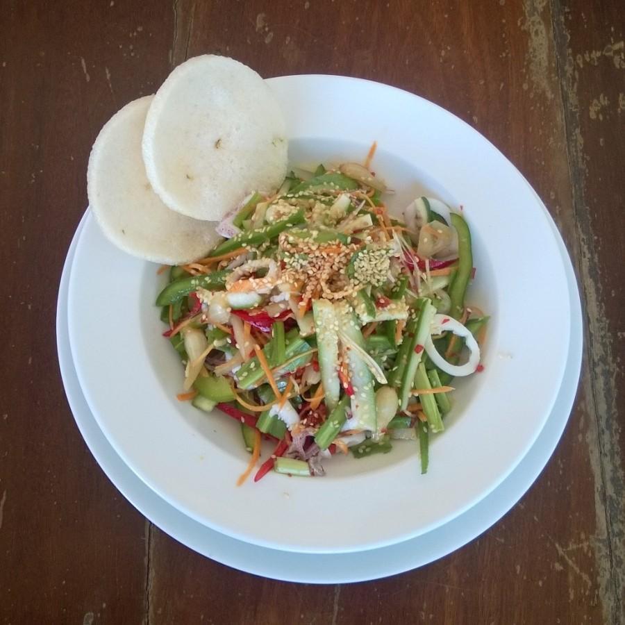 Vietnamesisk bläckfisksallad