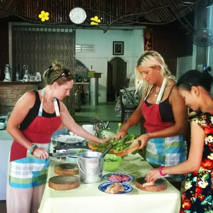 Matlagningskurs i Vietnam
