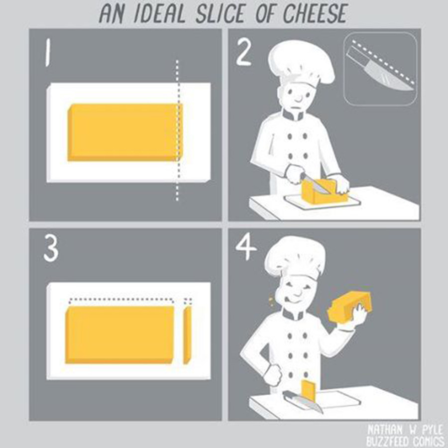 An ideal slice of cheese