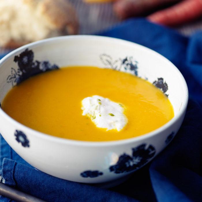 Recept morotssoppa med ingefära