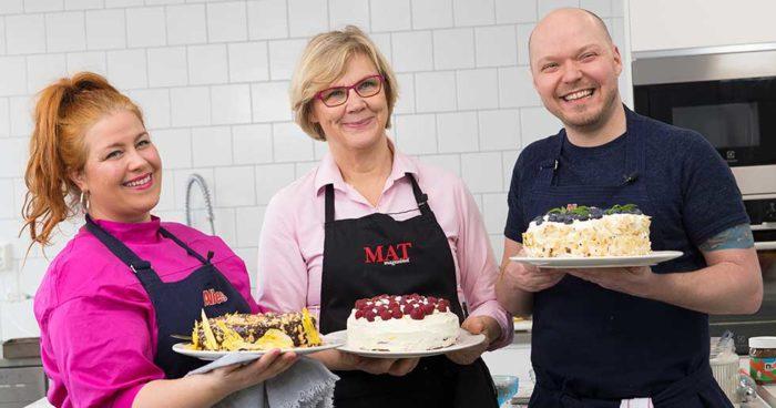 Det var med den här härliga duon, Sandra och Fredrik, som Maud Onnermark lagade den här härliga hallon- och citrontårtan.