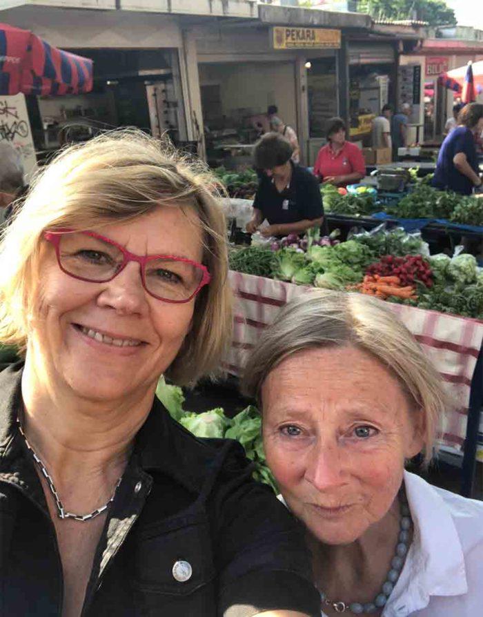 Jag och kollegan Lotta Hansson från Femina hittade mycket gott på marknaden när vi var där i maj.